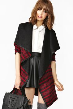 Plaid Drape Jacket - I'm not into Draped clothing but I really like this.