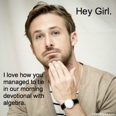 Hey girl homeschool. I love how you managed to tie in our morning devotional with algebra. So true.
