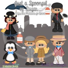 Just A Spoonful Of Sugar~SVG-MTC-PNG plus JPG Cut Out Sheet(s) Our sets also include clipart in these formats: PNG & JPG