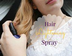 DIY hair lightening spray with simple ingredients!