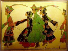 """Promenade of the Marionettes"" by Bertha Lum Woodblock prints (Estampes) :"