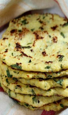 Cauliflower Tortillas {gf}: This recipe was easy enough to follow and they held together just fine but we weren't crazy about them. They tasted like burnt veggie omelet to me even though we didn't burn them. They looked just like the picture.