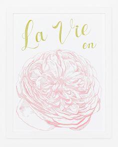 Sycamore Street Press - La Vie en Rose Print - Art Prints $35