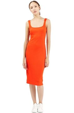 Topshop Ribbed Body-Con Midi Tank Dress available at #Nordstrom