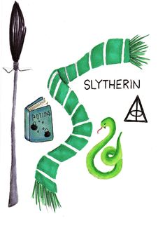 Slytherin Aesthetic Print by TheGibbyGallery on Etsy