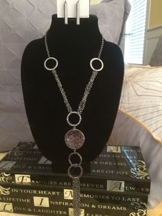 "Diamonds in the Rough Necklace $28 by Just Jewelry. Simply Stunning in person.  Hematite and theres diamond stones in the enclosed circle to add bling. 23""-26"" in length. You gotta come see the New Fall/Winter line. www.justjewelry.com/heathertownsend #jewelry #justjewelry #necklaces #hematite #shopping #fashion #fallfashion #new #style #fashionjewelry"