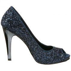Sparkly navy heels...cute!