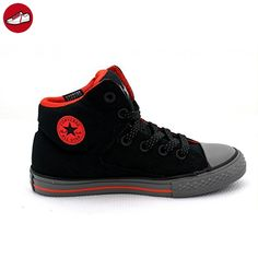 Converse All Star Street Chuck Taylor Kinder, rot - Schwarz / Rot - Größe: 27 (*Partner-Link)