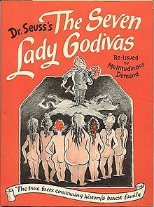 The cover of Dr. Seuss' adult picture book The Seven Lady Godivas published in 1939.