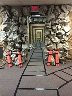 Mine shaft created for our Cave Quest VBS