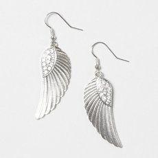 Crystal Wing Drop Earrings