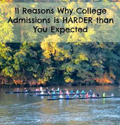 College Admissions and why it is so much harder than you expected.