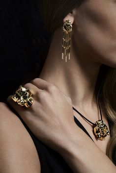 Bracelet, earrings and ring by #Cartier. #ChristiesJewels