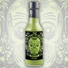 Their second type of hot sauce. What other band has their OWN hot sauce? New Green, Pierce The Veil, Coffee Bottle, Hot Sauce, Cool Bands, This Or That Questions, My Love, Skulls, Type