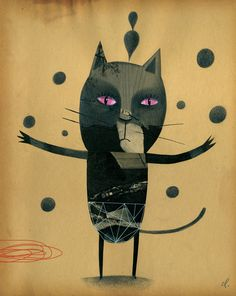 Illustration by Christopher Lyles, Black Cat.