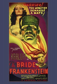 The Bride of Frankenstein Movie Poster Print (27 x 40) - Item # MOVAF9161 - Posterazzi