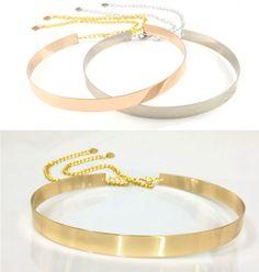 Women-Gold-Silver-Full-Metallic-Bling-Mirror-Plate-Waist-Metal-Chain-Skinny-Belt