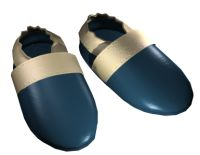 Dark Blue Beige Sophie® Soft Sole Shoes For Little Boys