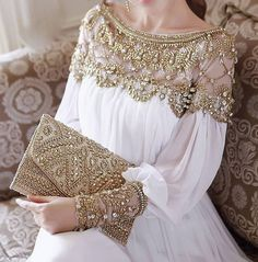 loor-length heavy beaded chiffon fancy dubai women kaftan abaya evening dress design caftan fashion 2014