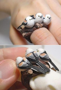 Animal rings sculpted by Count blue (Jiro Miura)