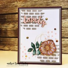 Embossing Paste, Lovely Words Thinlits, Oh So Eclectic Bundle, Stamp Ink Paper Challenges, Stampin Up