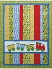 Choo Choo Quilt Pattern - Pretty in love with this train pattern.
