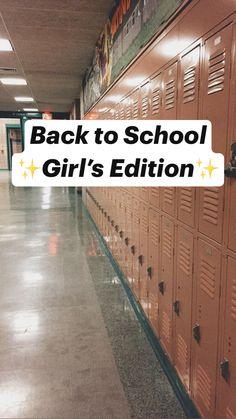 Middle School Hacks, High School Hacks, Life Hacks For School, School Study Tips, Girl Life Hacks, Back To School, School Emergency Kit, School Survival Kits, School Goals