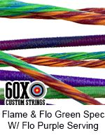 flame fluorescent green speckled with fluorescent purple serving custom bow…