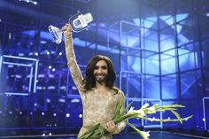 A bearded drag queen winning Europe's pop song contest is seen as a political message to homophobes in Russia and elsewhere.