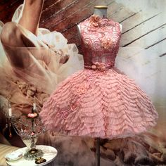 """Ballet Pink Fantail Ballerina $3,500 by ANAESSIA """"Made With Love"""" View Collection """"Private Runway Dream"""" Link: http://vimeo.com/50886471 Available Online: http:// www.anaessia.com http://anaessia.bigcartel.com/products (Online Boutique)"""