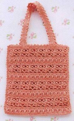 5b9fb7043509 Кружевная сумка крючком Связанные Крючком Кошельки, Crochet Tote, Тунисское  Вязание, Вязаные Сумки,