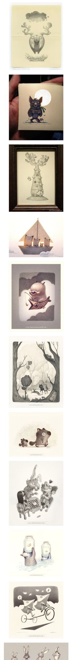 Beautiful Illustrations by Charles Santoso