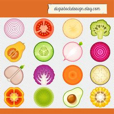 Vegetable Cliparts. Vegetable Illustration. Vegetable Icon digital images. 196