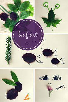 leaf art craft ideas for kids from @hodgepodgecraft #Pintorials