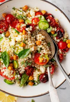 Roasted Cherry Tomato and Thyme Couscous Salad