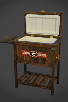 Wooden Collegiate 48qt Cooler by WiseAshInstruments on Etsy, $215.00