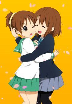 Anime picture k-on! kyoto animation hirasawa yui hirasawa ui ragho no erika tall image 410985 en K On Anime, Kawaii Anime, Anime Art, Anime Siblings, Anime Couples, Vaporwave, K On Yui, Moe Manga, Anime Friendship