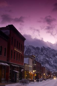 Main Street in Telluride after a storm. Photo by Ryan Bonneau.