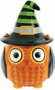 Amazon.com: Boston Warehouse All Owl's Eve Witch Cookie Jar: Kitchen & Dining