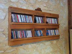 Pallet Cd Shelf Shelves & Coat Hangers
