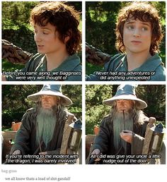 """When Gandalf got called out on his bullshit. 