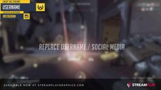 Overwatch Themed Overlay (animated) Overwatch, Division, Overlays, Animation, Social Media, Templates, Places, Instagram, Stencils