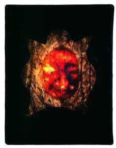 Běs | dřevo, světlo, sklo | 53 x 42 x 14 cm | 1991