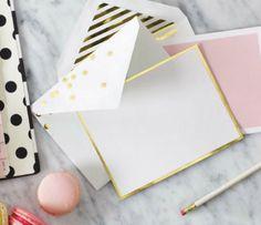 Kate Spade Gold Dot Cards, $25.00 (http://www.purseladytoo.com/kate-spade-gold-dot-cards/)
