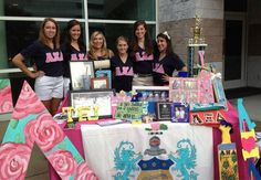 Great Alpha Xi Delta promotion table!