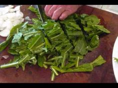 Dandelion Greens with Potatoes, could put poached/over-easy eggs on top