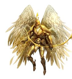 Solar Angel with Longbow - Pathfinder PFRPG DND D&D 3.5 5th ed d20 fantasy