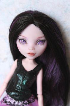 OOAK Monster High elissabat custom doll head Repaint by I'mDolls #Dolls