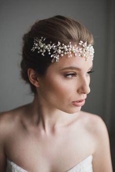 Bridal Hair Wreath Wedding Hair Piece Bridal by GlamHerBands