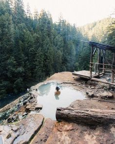 Umpqua Hot Springs is a geothermal pool located along the North Umpqua River in the U. state of Oregon at feet elevation. Umpqua Hot Springs is a geothermal pool located along the North Umpqua River in the U. state of Oregon at feet elevation. Oh The Places You'll Go, Places To Travel, Travel Destinations, Places To Visit, Oregon Travel, Travel Usa, Backpacking Oregon, Oregon Hiking, Umpqua Hot Springs